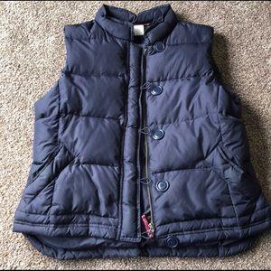J.Crew Petite Large Navy Puffer Vest